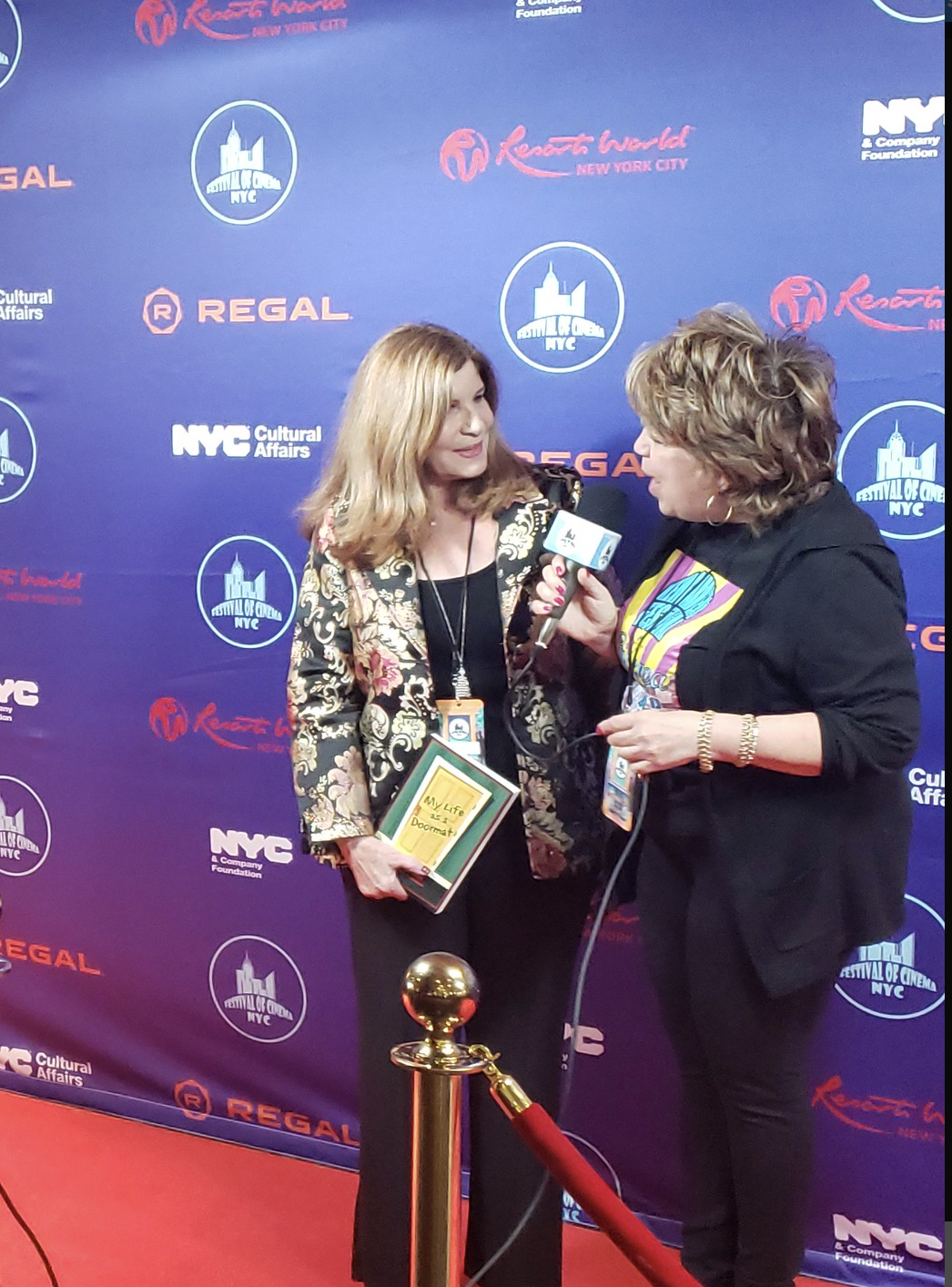 Interviewed on the red carpet at Festival of Cinema NYC. Nominated for BEST TV/Web series. Interviewed on the red carpet at Festival of Cinema NYC. Nominated for BEST TV/Web series.
